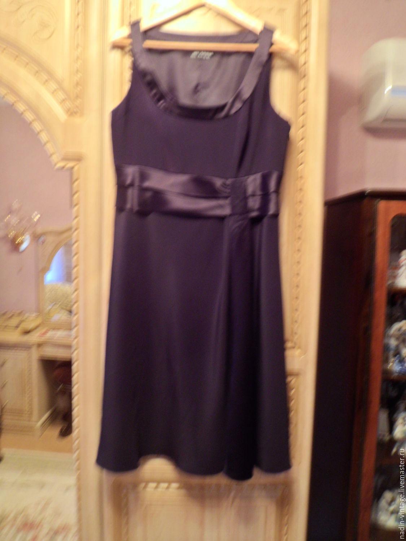 Одежда. Ярмарка Мастеров - ручная работа. Купить Винтаж: Коктейльное платье 'Marcs and Spencer'. Handmade. Платье, большой размер