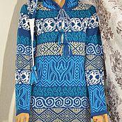 Одежда ручной работы. Ярмарка Мастеров - ручная работа Платье с кельтскими мотивами и капюшоном. Handmade.