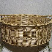 Для дома и интерьера handmade. Livemaster - original item Round basket with handles of willow vines. Handmade.