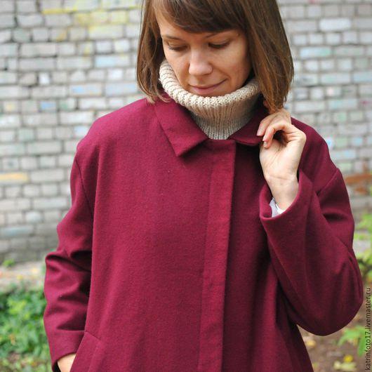 Верхняя одежда ручной работы. Ярмарка Мастеров - ручная работа. Купить Пальто. Handmade. Ярко-красный, пальто