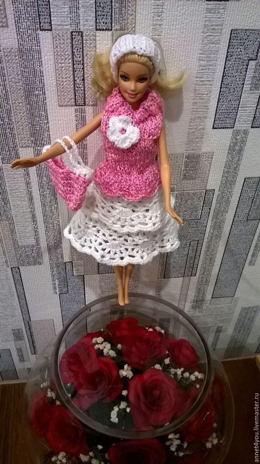 """Одежда для кукол ручной работы. Ярмарка Мастеров - ручная работа. Купить """"РОЗОВЫЙ ЗЕФИР"""" комплект одежды для Барби. Handmade."""