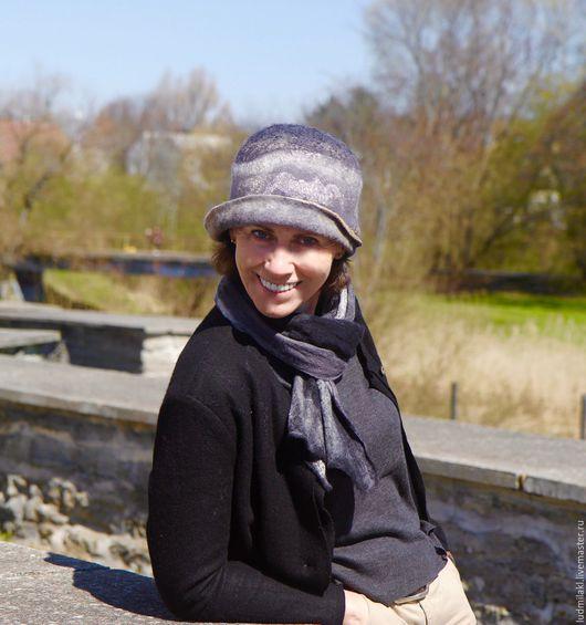 """Шляпы ручной работы. Ярмарка Мастеров - ручная работа. Купить Шляпка из войлока """"Старый за'мок"""". Handmade. Серый, женская шляпка"""
