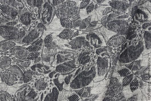 """Шитье ручной работы. Ярмарка Мастеров - ручная работа. Купить Ткань костюмная """"Мишель"""". Handmade. Темно-серый, натуральные ткани"""