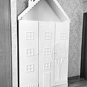 Для дома и интерьера ручной работы. Ярмарка Мастеров - ручная работа Шкаф в детскую комнату по индивидуальному эскизу. Handmade.