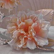 handmade. Livemaster - original item Jewelry: clip - brooch made of silk Rhododendron. Handmade.