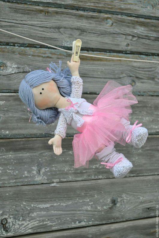 Человечки ручной работы. Ярмарка Мастеров - ручная работа. Купить Элина-балерина. Handmade. Белый, текстильная игрушка
