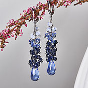 Украшения handmade. Livemaster - original item Long earrings-clusters of