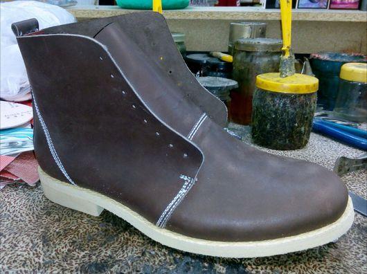 Обувь ручной работы. Ярмарка Мастеров - ручная работа. Купить Ботинки мужские демисезонные. Handmade. Ботинки, гвозди, индивидуальный подход