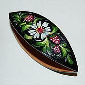 Материалы для творчества handmade. Livemaster - original item Very Large Wooden Hand Painted Tatting Shuttle. Handmade.