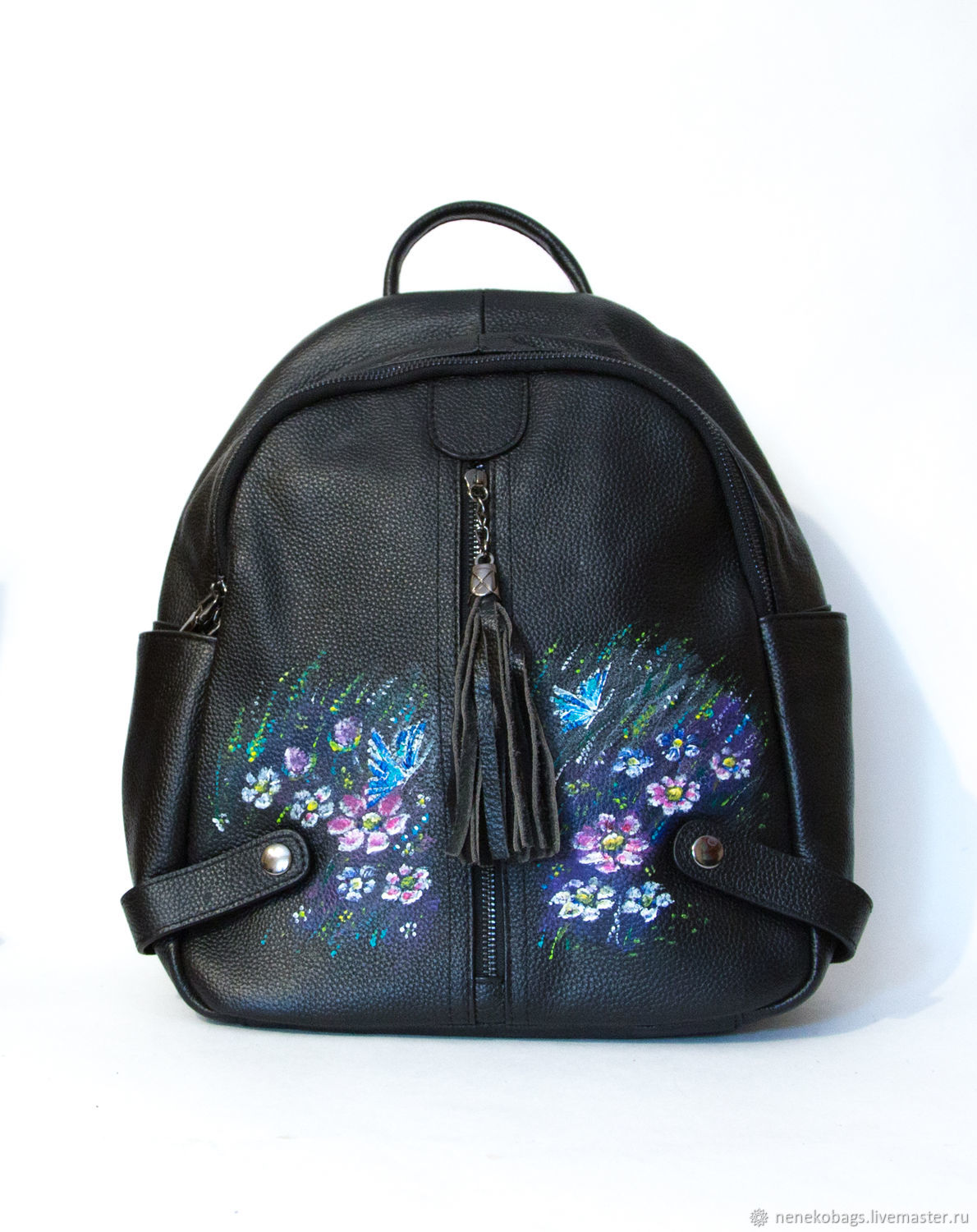 9526b4b460 Backpacks handmade livemaster handmade buy backpack leather black hand  painted flower meadow jpg 1190x1500 Hand painted