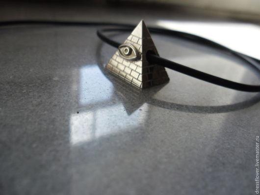 Кулоны, подвески ручной работы. Ярмарка Мастеров - ручная работа. Купить подвеска Пирамида, масонское украшение. Handmade. Серебряный