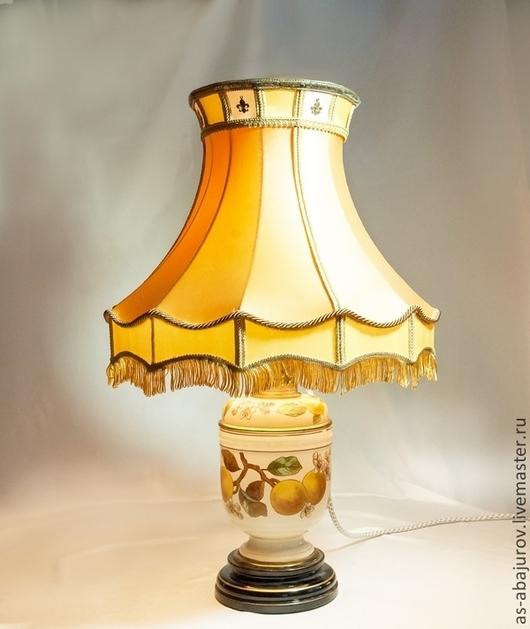 """Освещение ручной работы. Ярмарка Мастеров - ручная работа. Купить Абажур для старинной лампы """"Апельсин"""". Handmade. Апельсины, АБАЖУР"""