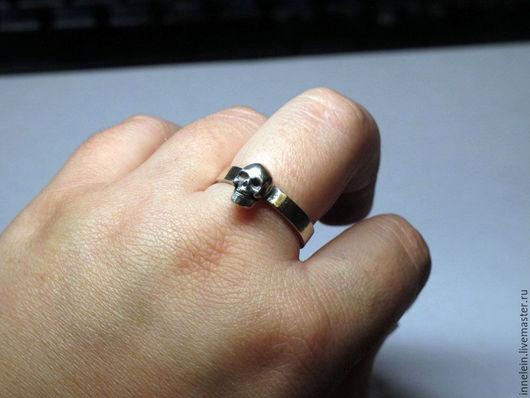 Кольца ручной работы. Ярмарка Мастеров - ручная работа. Купить Кольцо Череп 7. Handmade. Серебряный, маленький череп