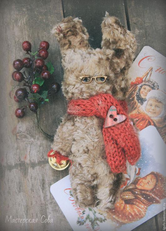 Мишки Тедди ручной работы. Ярмарка Мастеров - ручная работа. Купить заяц новогодний. авторская игрушка ручно работы. Handmade.