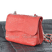 Сумки и аксессуары handmade. Livemaster - original item Handbag made from Python ELENA. Handmade.