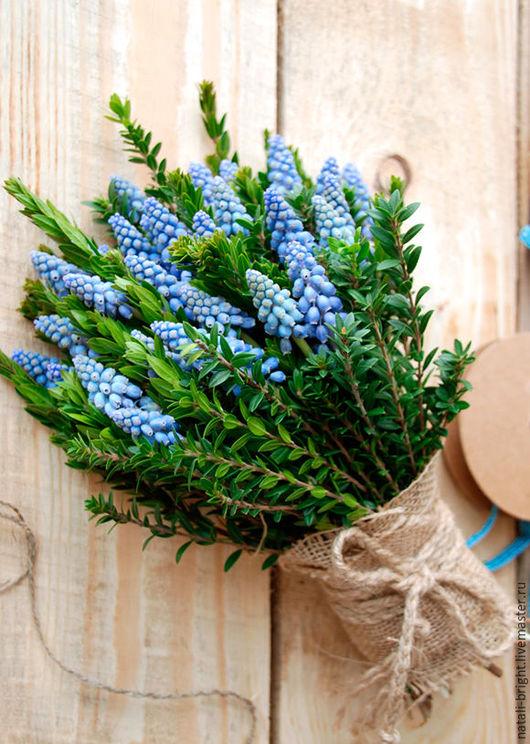 Букет из живых цветов Мускари