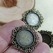 Материалы для творчества handmade. Livemaster - original item Base for the pendant, 14 mm. Art.OKL41. Handmade.
