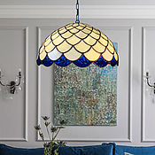 Для дома и интерьера handmade. Livemaster - original item Classic stained glass chandelier in Tiffany style. Handmade.