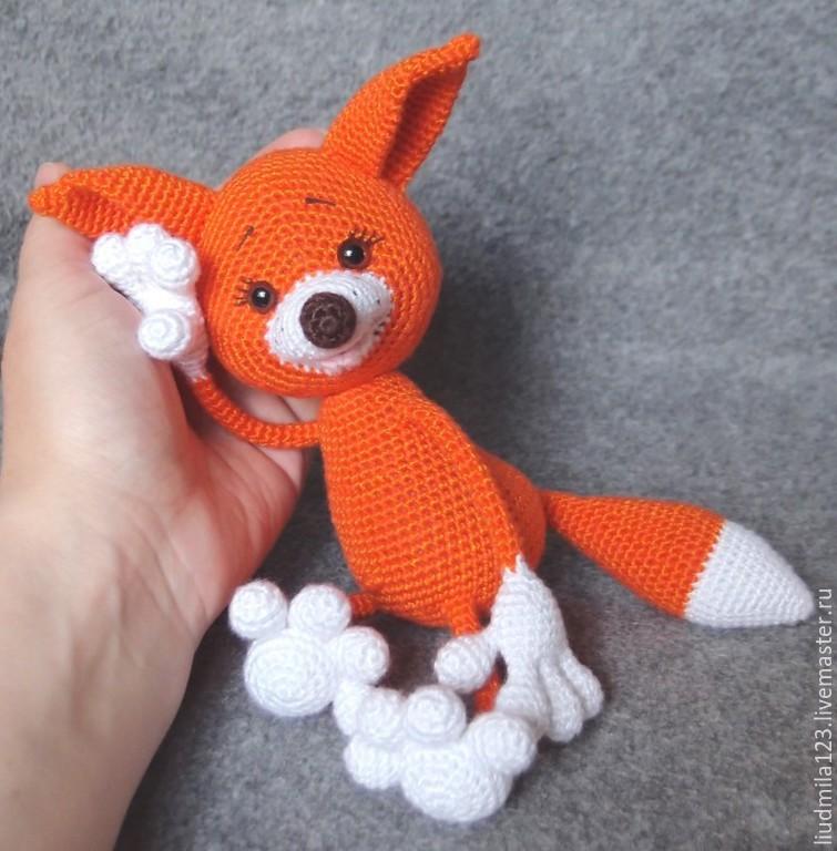 Вязать крючком игрушку лисёнка