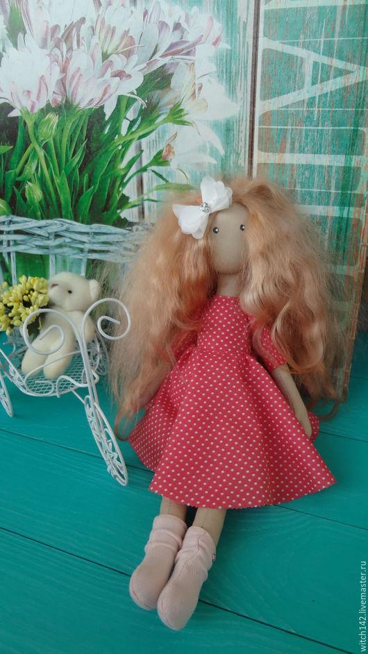 Коллекционные куклы ручной работы. Ярмарка Мастеров - ручная работа. Купить Стася. Интерьерная куколка. Handmade. Коралловый, подарок