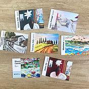 Открытки handmade. Livemaster - original item Set of postcards: JOURNEY-from 7 pictorial author`s postcards. Handmade.