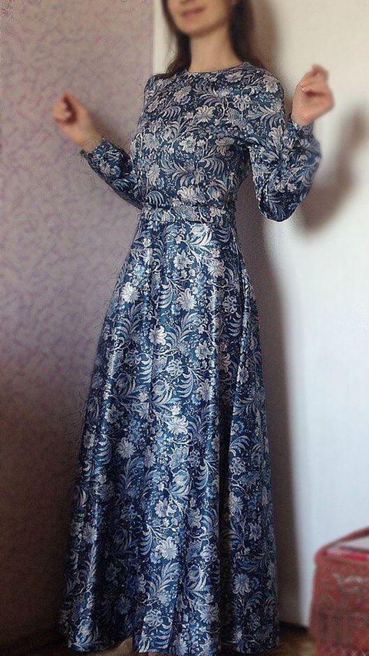 """Платья ручной работы. Ярмарка Мастеров - ручная работа. Купить """"Серебряная роза"""". Handmade. Платье, купить платье, модное платье"""