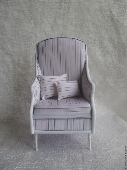 """Кукольный дом ручной работы. Ярмарка Мастеров - ручная работа. Купить Кресло """" Нежность в стиле Прованс"""".Для кукол от 20 до 33 см. Handmade."""