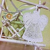 Для дома и интерьера handmade. Livemaster - original item Interior Pendant White Angel Fairy Home Cozy toy 10pcs. Handmade.