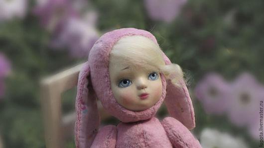 Коллекционные куклы ручной работы. Ярмарка Мастеров - ручная работа. Купить Кукла Аля, которая боится.. Handmade. Бледно-розовый