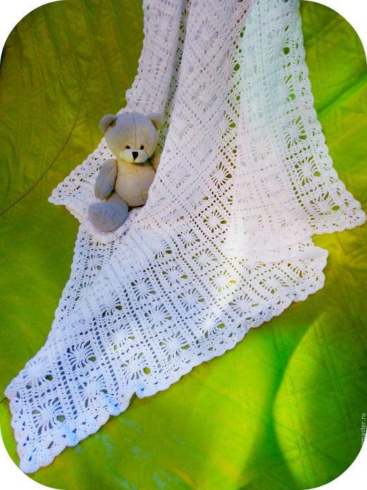 Пледы и одеяла ручной работы. Ярмарка Мастеров - ручная работа. Купить Плед крючком. Handmade. Белый, вязание на заказ
