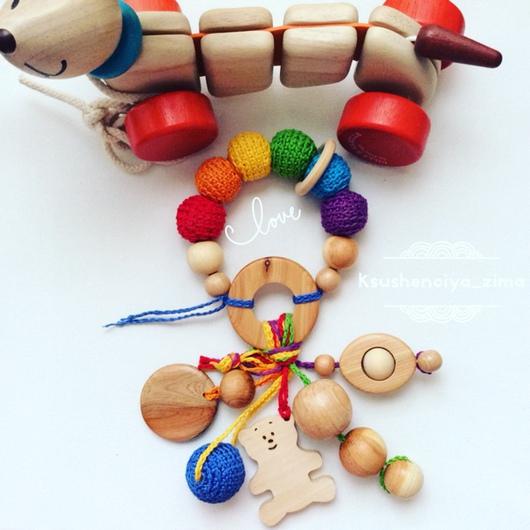 Развивающие игрушки ручной работы. Ярмарка Мастеров - ручная работа. Купить Погремушка-грызунок. Handmade. Игрушка ручной работы, детское