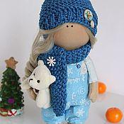 Куклы и игрушки ручной работы. Ярмарка Мастеров - ручная работа Текстильная кукла-малышка Снежинка. Handmade.