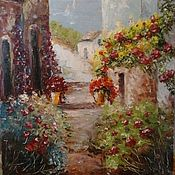 Картины и панно handmade. Livemaster - original item Oil painting Provence style street Spain. Handmade.