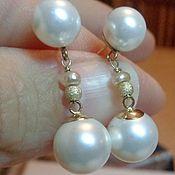 Украшения handmade. Livemaster - original item Earrings made of gold 585 and natural freshwater pearls AAA. Handmade.