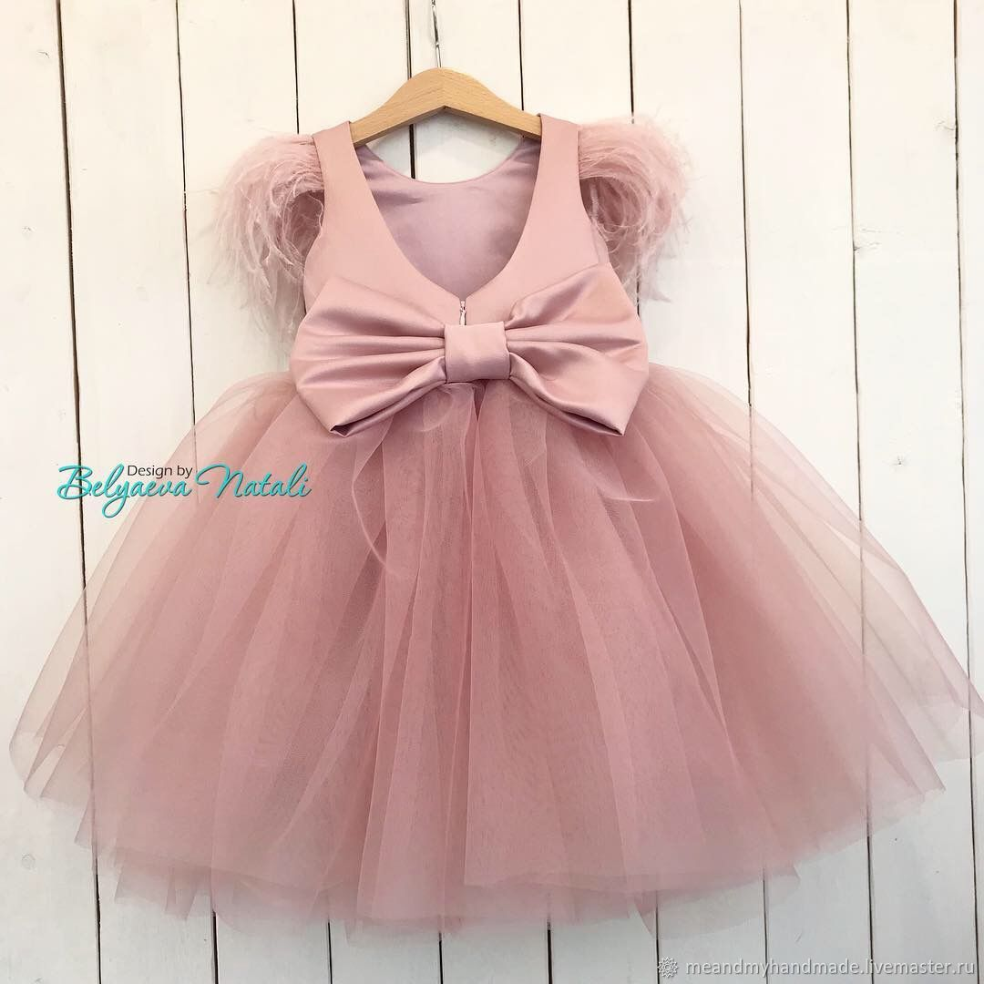 Платье для принцессы с перьями