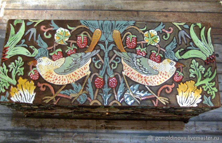 chest of drawers Birds of William Morris, Mini Dressers, Yenakiyevo,  Фото №1