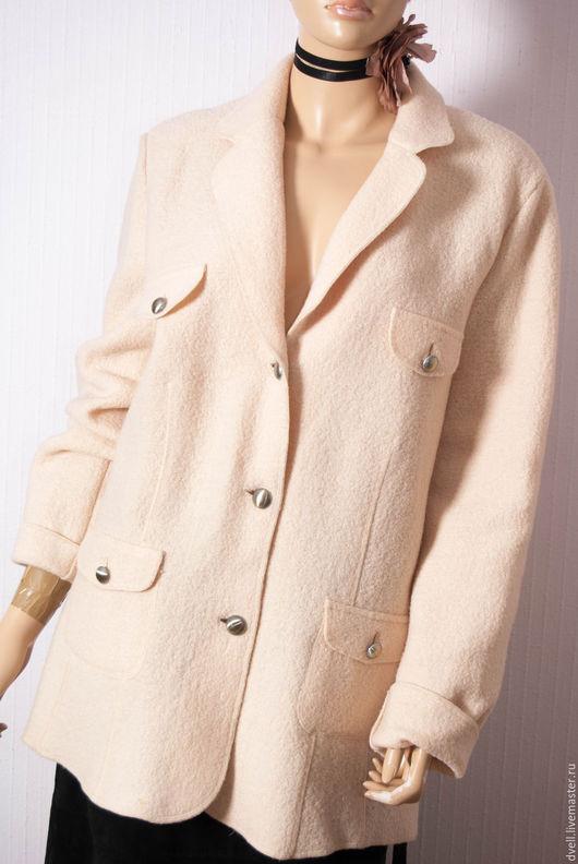 Пиджаки, жакеты ручной работы. Ярмарка Мастеров - ручная работа. Купить Жакет шерсть ,,Классика,,. Handmade. Бежевый, шерсть 100%
