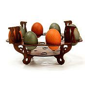 Посуда handmade. Livemaster - original item Stand under Easter eggs and hot cross. Wooden stand. Handmade.