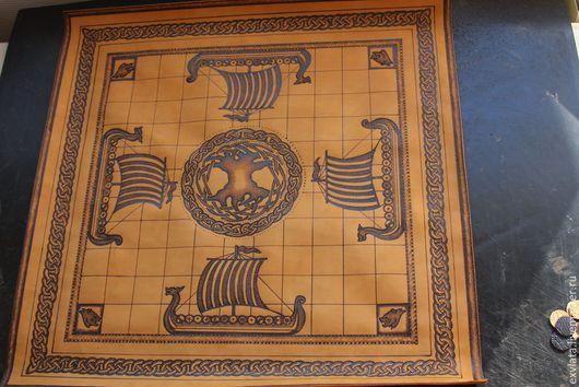 Ролевые игры ручной работы. Ярмарка Мастеров - ручная работа. Купить ХНЕФАТАФЛ (шахматы викингов, доска кожаная мягкая). Handmade.