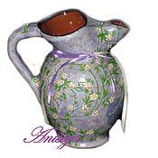 Посуда ручной работы. Ярмарка Мастеров - ручная работа Кувшин из керамики для молока (сливок). Handmade.