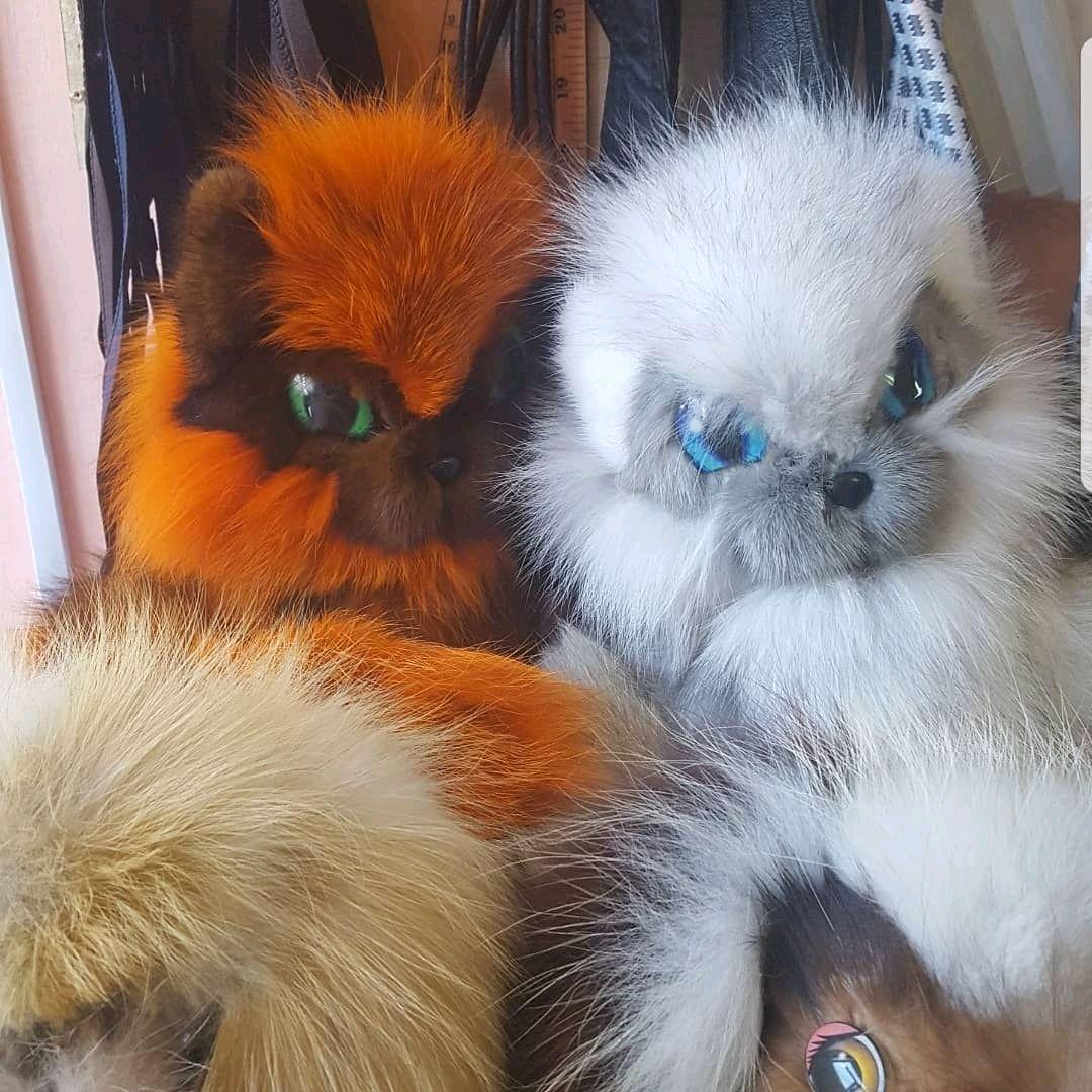"Мех.сувенир игрушка ""Кошка"" мех лисы цена 3500р, Мягкие игрушки, Сургут,  Фото №1"