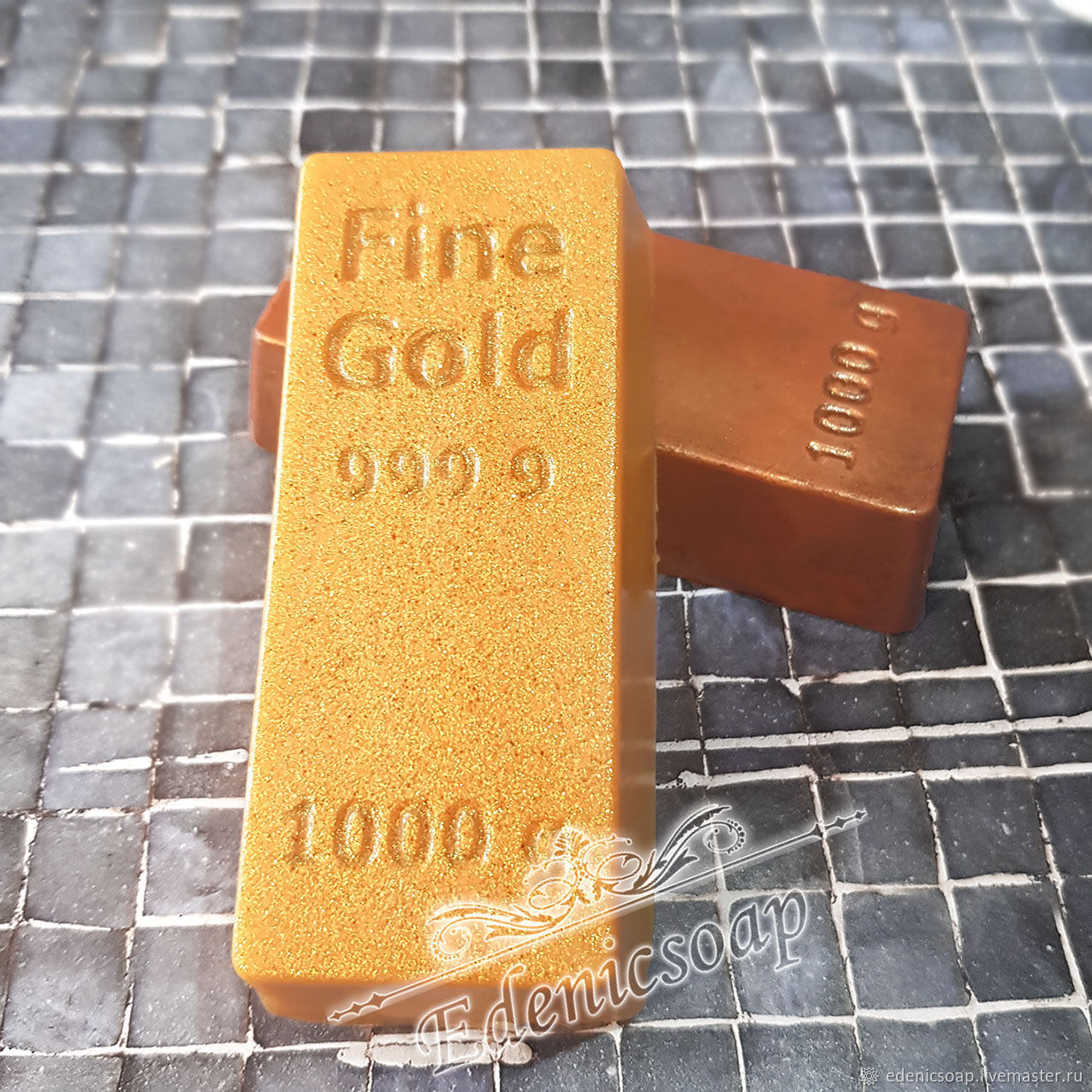 'Gold bar' soap gift for man money the interior, Soap, Moscow,  Фото №1