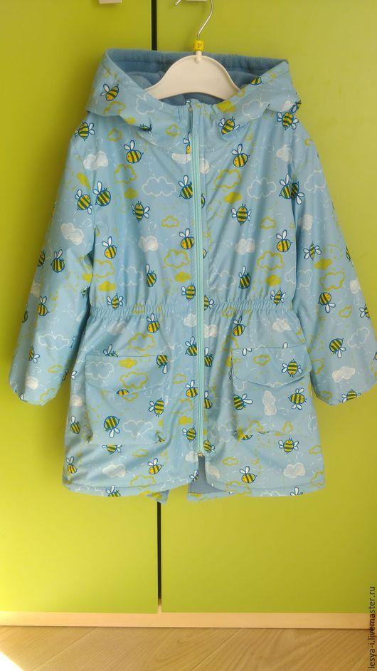 Одежда для девочек, ручной работы. Ярмарка Мастеров - ручная работа. Купить Плащ ля девочки. Handmade. Голубой, плащ, пальто