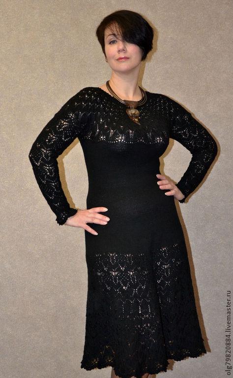 """Платья ручной работы. Ярмарка Мастеров - ручная работа. Купить Ажурное вязаное платье """"Багира"""". Handmade. Черный"""