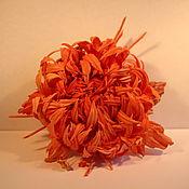 Украшения ручной работы. Ярмарка Мастеров - ручная работа Брошь «Хризантема» из натурального японского шелка. Handmade.
