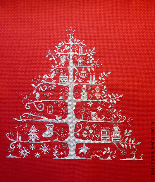 Персональные подарки ручной работы. Ярмарка Мастеров - ручная работа. Купить Новогодняя ёлка. Handmade. Ярко-красный, Новый Год