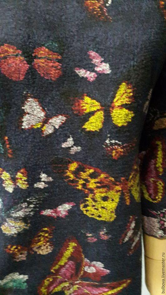 Кофты и свитера ручной работы. Ярмарка Мастеров - ручная работа. Купить Свитшот темно-синий Бабочки. Handmade. Тёмно-синий