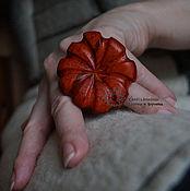 Украшения ручной работы. Ярмарка Мастеров - ручная работа Кольцо деревянное Рыжая Ромашка. Handmade.