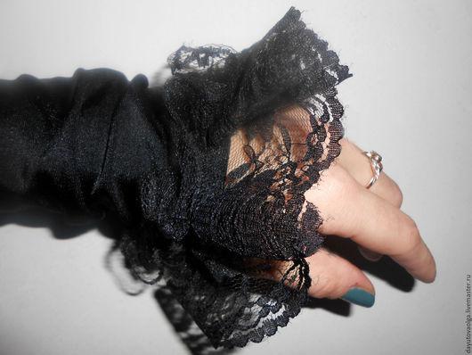 Варежки, митенки, перчатки ручной работы. Ярмарка Мастеров - ручная работа. Купить Перчатки, митенки. Handmade. Черный, митенки, хеллоуин