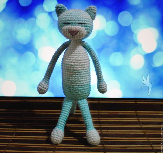 Игрушки животные, ручной работы. Ярмарка Мастеров - ручная работа. Купить Небесный котик. Handmade. Голубой, аминеко, крючком